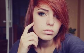 girl, blue eyes, redhead