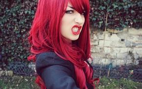 redhead, blue eyes, girl