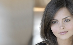 girl, dark hair, Jenna Coleman, brown eyes, Doctor Who