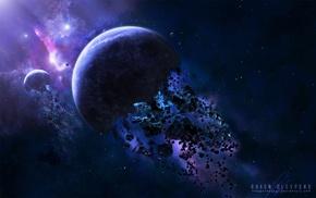 звезды, космос, космический арт, галактика, планета