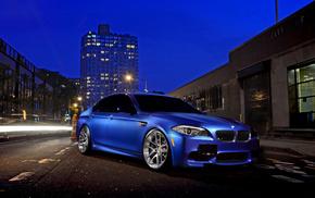 BMW, cars, street, night