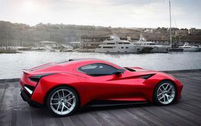 auto, sportcar, red, cars, car