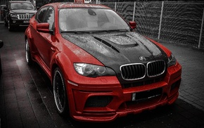 rain, parking, tuning, cars, BMW