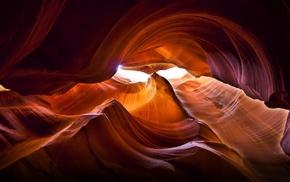 каньон, свет, пещера, природа, скалы