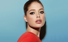girl, model, face, Doutzen Kroes, blue eyes