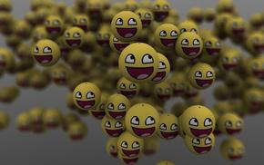 balloon, smiling, 3D