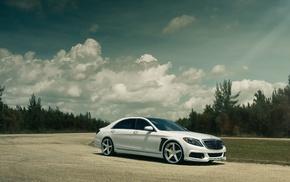 облака, Mercedes Benz, природа, суперкар, Брабус, дорога