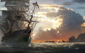 artwork, ship