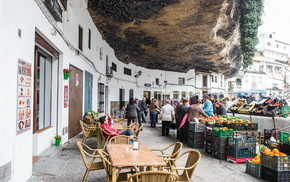 Андалусия, красота, скала, города, Испания, улица