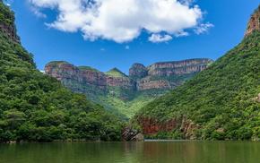 река, красивые, зелень, каньон реки Блайд, небо, вода