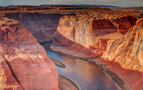 Аризона, красивые, красота., Глен-каньон, каньон, река