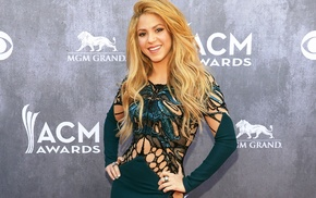 blonde, dress, smiling, Shakira, music