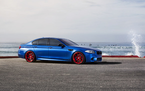 бмв, monte carlo blue, синий, m5, wheels, bmw
