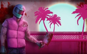 video games, cleavers, Hotline Miami