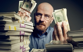 Walter White, TV, money, Heisenberg, Bryan Cranston, Breaking Bad