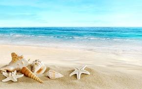 красиво, ocean, отдых, песок, рай, vacation