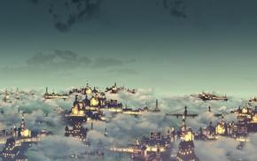 artwork, BioShock, BioShock Infinite, Colombia, city, video games