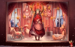 Vocaloid, anime girls, winter, snow, Hatsune Miku