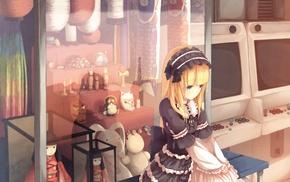 lolita, anime girls, original characters, blonde