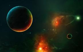планета, космос, космический арт