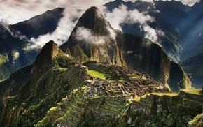 природа, горы, руины