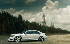 nature, trees, sky, white, supercar