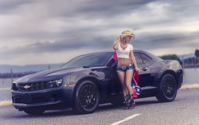 macro, sportcar, blonde, camaro, Chevrolet