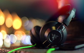 headphones, macro