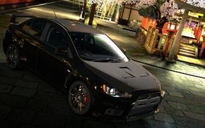 car, black, Mitsubishi, video games