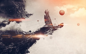 eagle, abstract