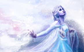 Princess Elsa, artwork, movies, Frozen movie, animated movies