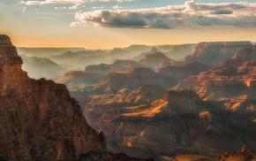 Гранд-Каньон, красивые, небо, Аризона, каньон, красота