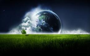 планета, небо, красиво, Космос, красивые