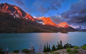 горы, Канада, природа, река, вода