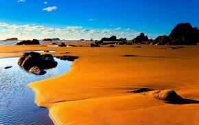 desert, beach, nature