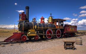 railway, desert, USA