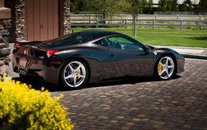 458 италия, автомобили, silver, феррари