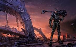 Master Chief, игры, Halo, произведение искусства
