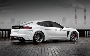auto, cars, Porsche, white