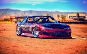 macro, sportcar, Nissan, race, cars