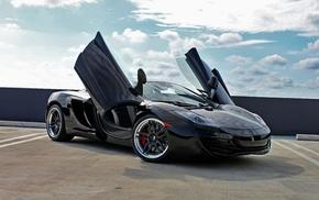 макларен, mp4-12c, автомобили, чёрный, mclaren, black