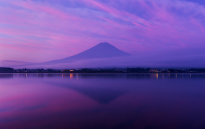 Фудзияма, вулкан, океан, красивые, Япония, Хонсю