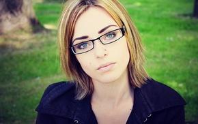 glasses, closeup, face