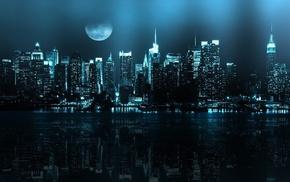 города, Mirror metropolis, город, ночь