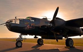 среднего, второй мировой вой, B-25 Mitchell, North American, цельнометаллический, радиуса