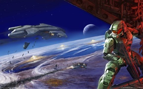 Halo, video games, Master Chief, Halo 2, artwork, Halo 3