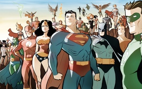 Wonder Woman, Martian Manhunter, Justice League, Green Lantern, Superman, Zatanna
