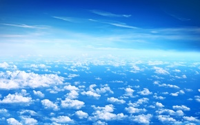 белые, облака, небо, blue sky, высота, красивые