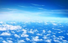 clouds, sky, height, stunner