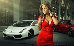 white, Lamborghini, Photography by Joel Chan, Model Robin Grimshaw, Ferrari, Gallardo